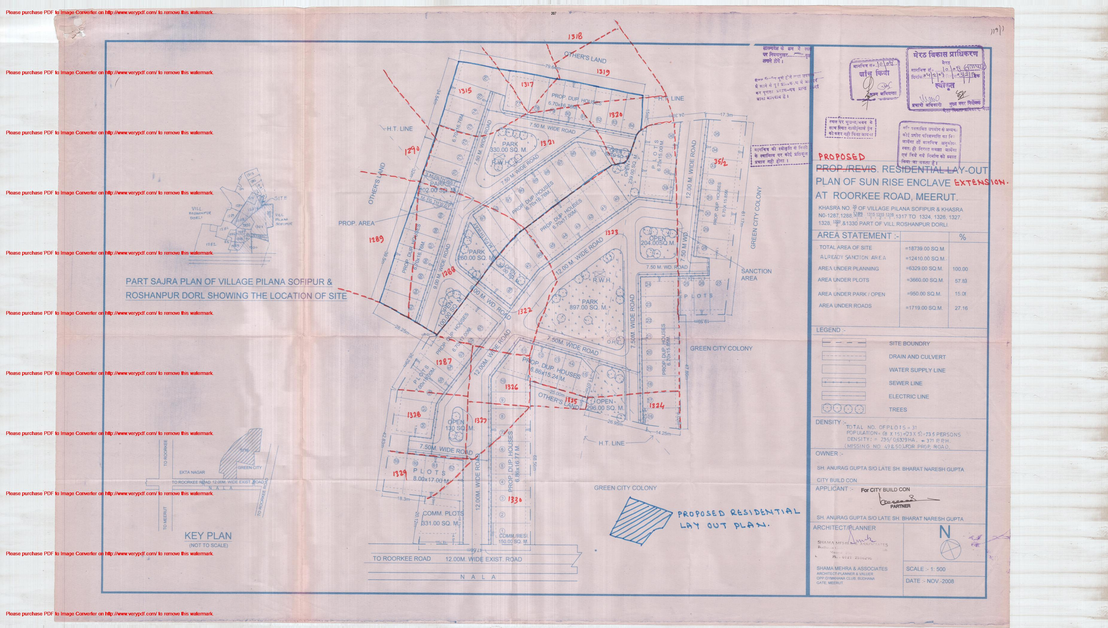 Meerut India Map.Approved Colonies Meerut Development Authority
